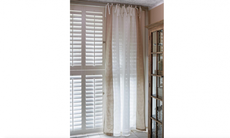 East Hampton Curtain weiss/flax 140x270 cm