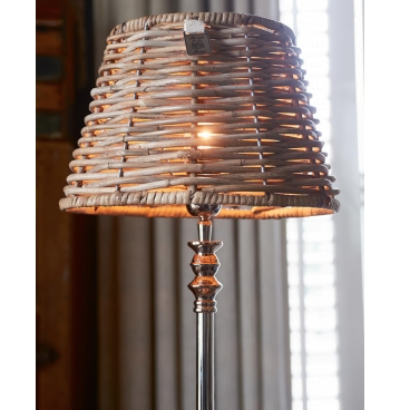 Colonial Rattan Tapered Lampshade Dia 30