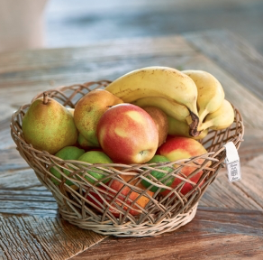 Rustic Rattan Fruit Basket