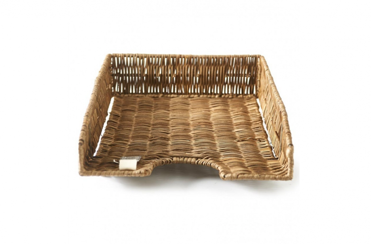Rustic Rattan Office Tray - 0