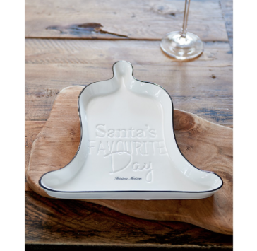 Santa`s Favourite Day Christmas Bell Plate
