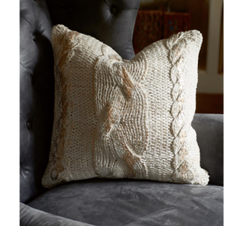 The Golden Knit Pillow 50 x 50