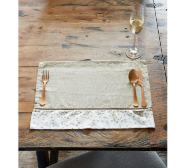 Happy Sparkle Placemat gold