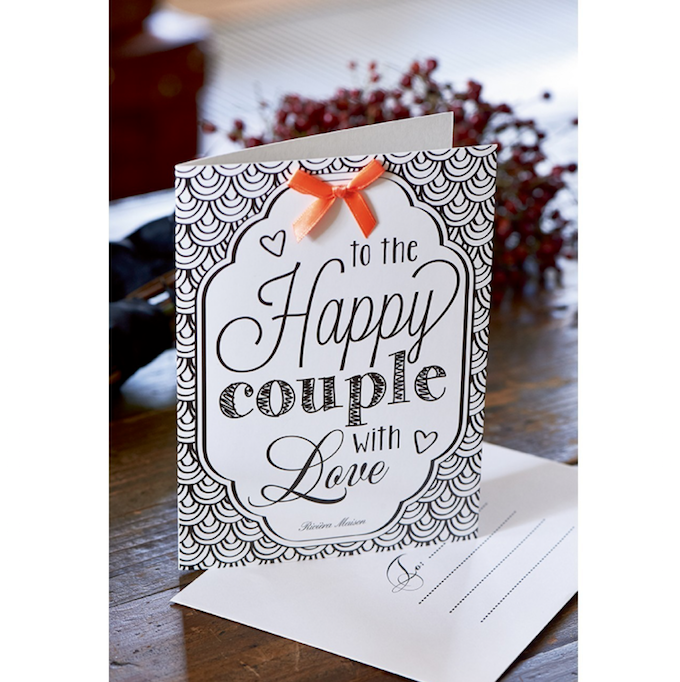 Postcard Happy Couple +envelope