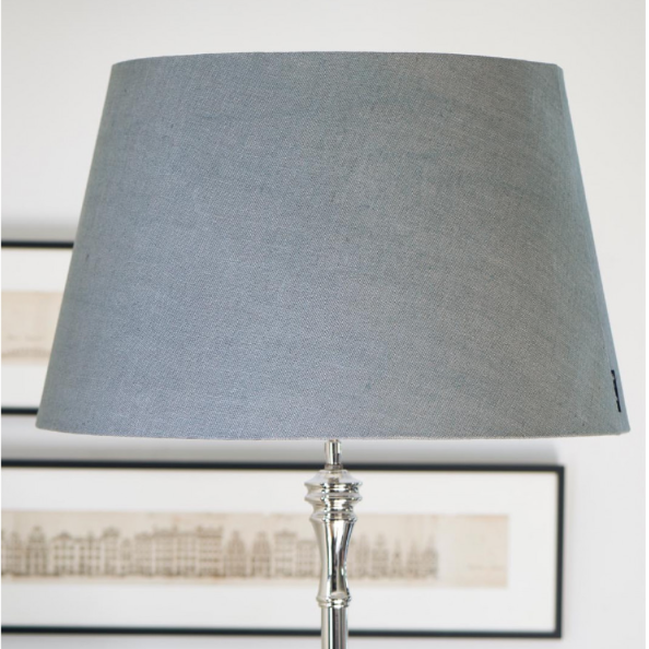 Classic Natural Linen Lampshade grey