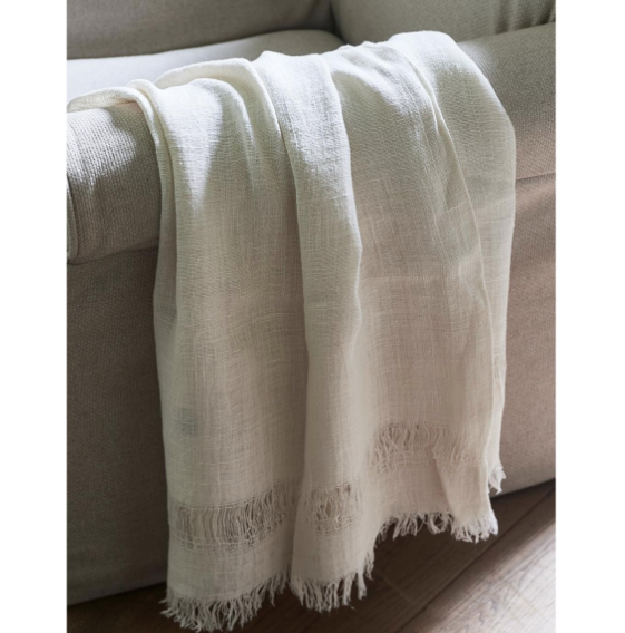 Happy Island Throw white