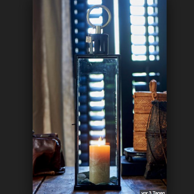 French Glass Lantern L