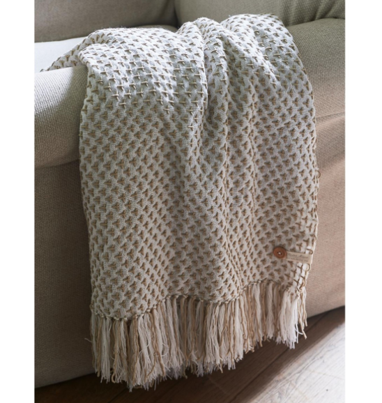Saona Throw off white 170x130