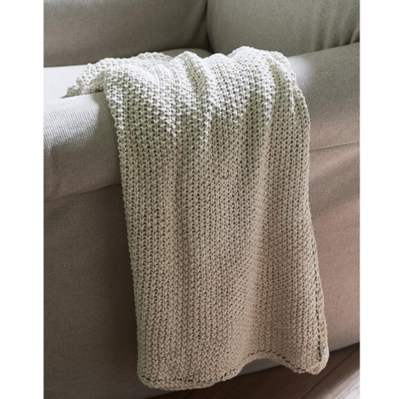 Classic Knit Throw offwhite 170x130