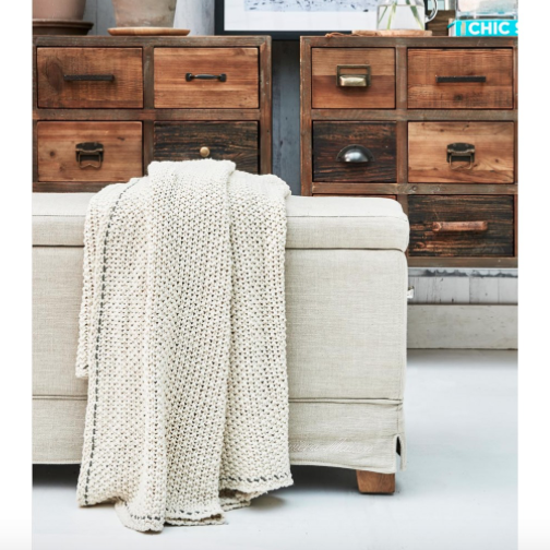 Classic Knit Throw offwhite 170x130 - 0