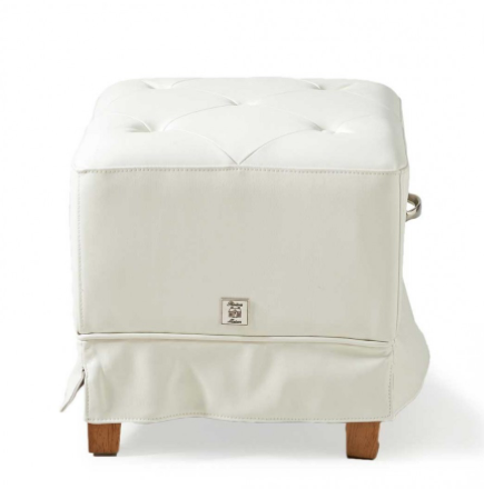 The Club Footstool pellini White