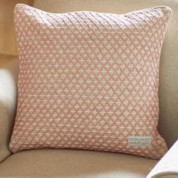 Village Pillow Cover pink 50x50