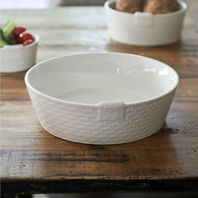 Pure Rattan Ceramic Bowl L