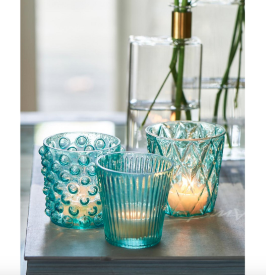 Camps Bay Votives azur blue 3 pcs