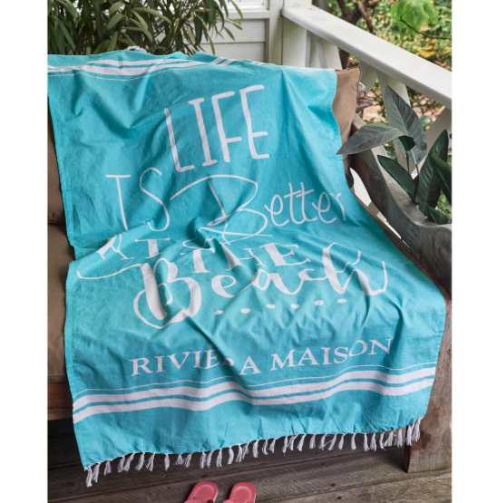 Life Is Better Hammam Towel 180x100