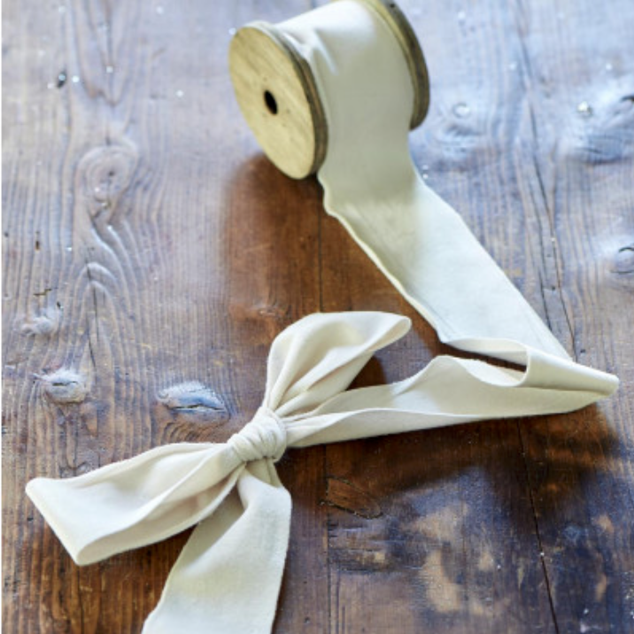 Fabulous Velvet Ribbon winter white