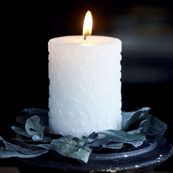 Shiny Star Candle 7x10