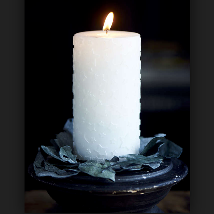 Shiny Star Candle 7x14