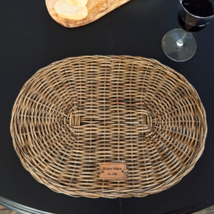 Rustic Rattan Placemat Oval
