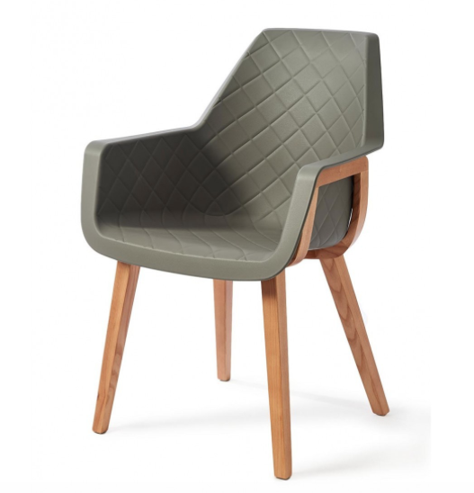 Amsterdam City Dining Armchair Grey