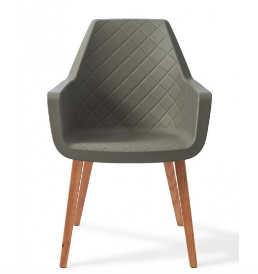 Amsterdam City Dining Armchair Grey - 3