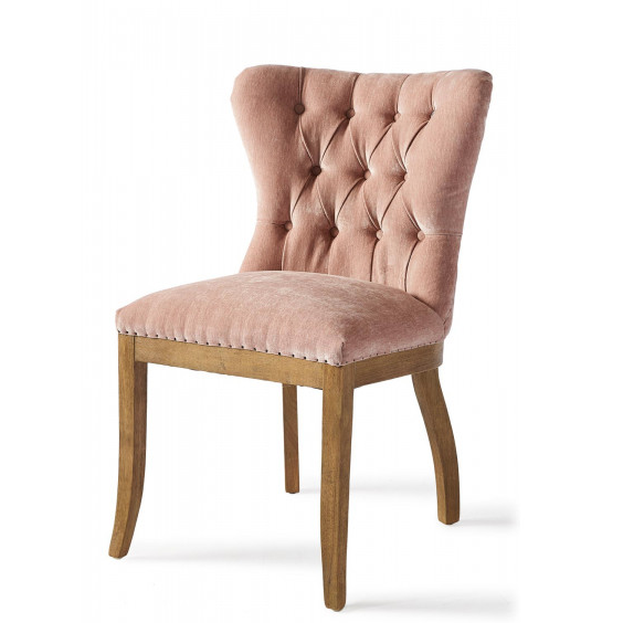 Wessex Dining Chair Velvet Pink