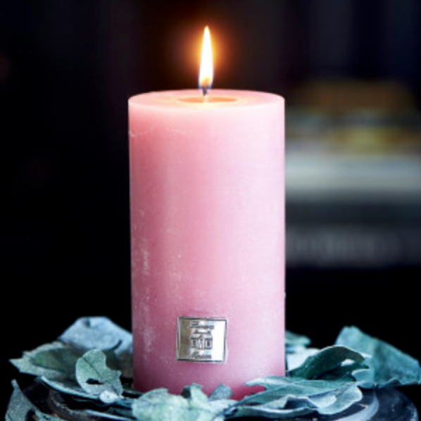 Rustic Candle raspberry 7x13