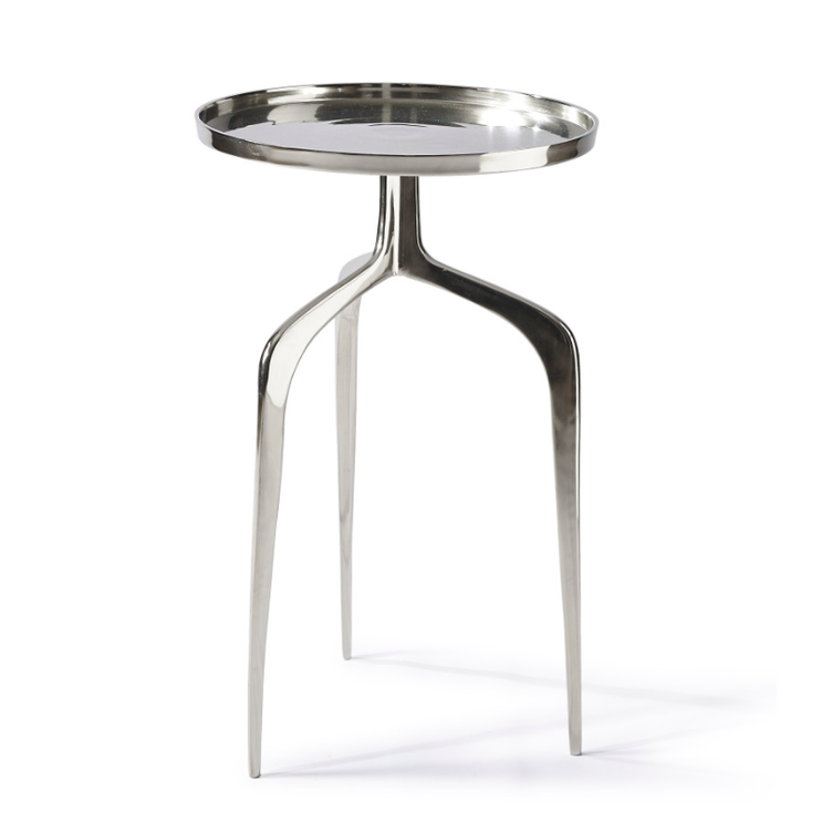 Faubourg End Table nickel 42 cm dia