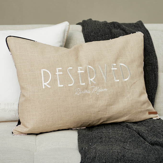 Cafe Floral Reserved Pillow