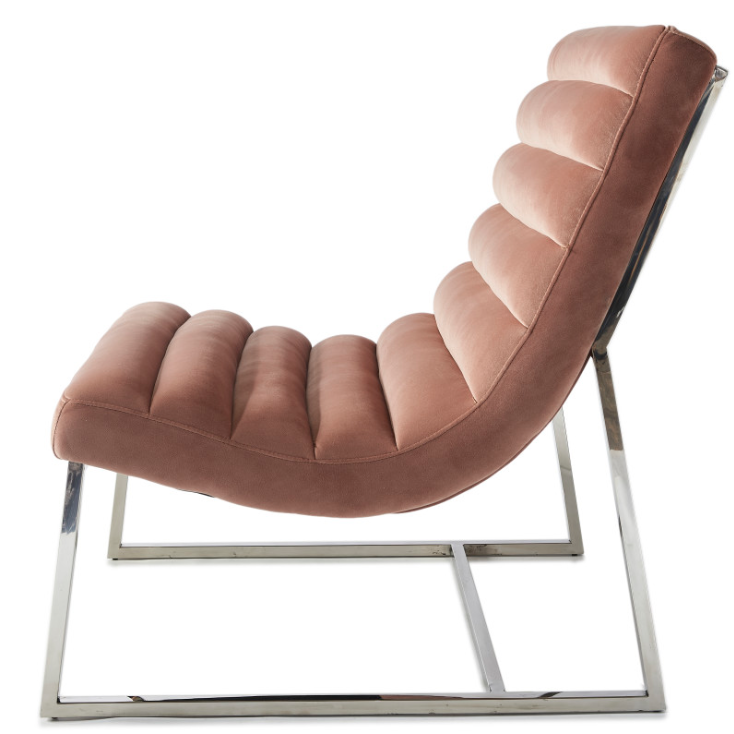 Thompson Lounge Chair Blush