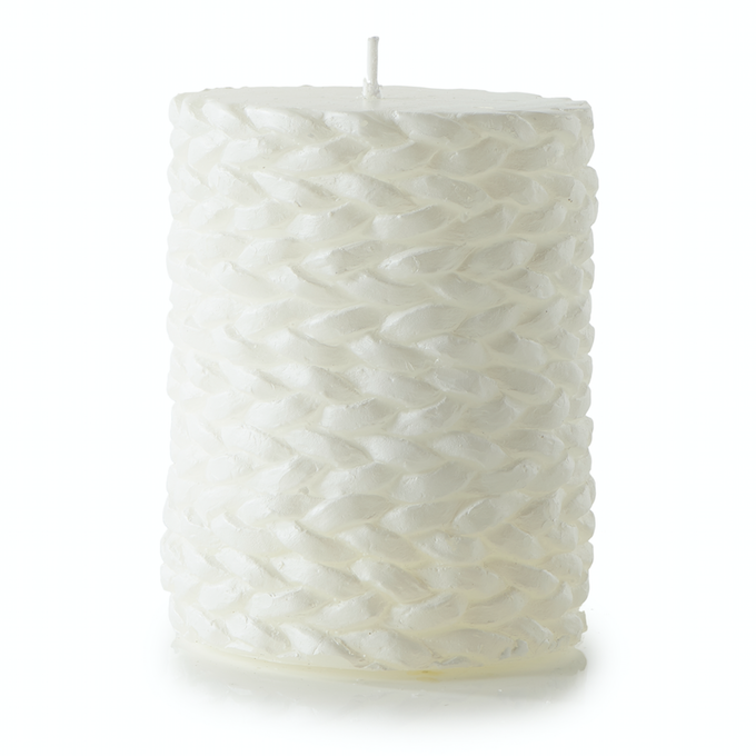 Sailor Weave Candle white 7x10