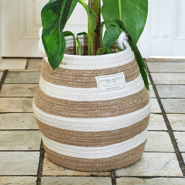 Sorrento Stripe Basket M
