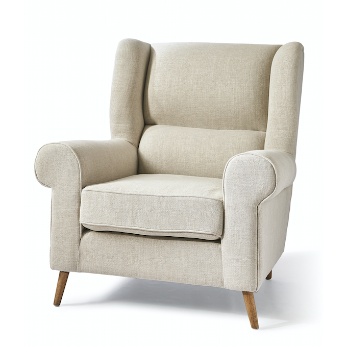 Delano Wing Chair Lin Fabulous Flax