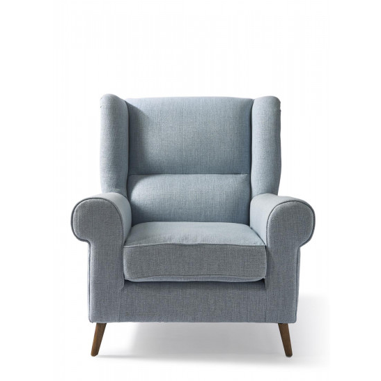 Delano Wing Chair Lin Morn Sky Blue