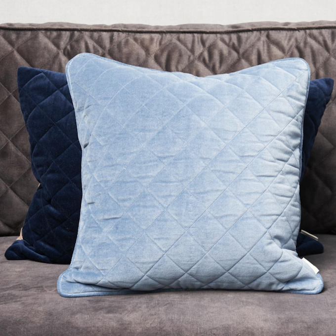 B. Diamond Quilted P.C. blue 50x50