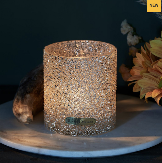Silver Dust Sprinkle Votive M