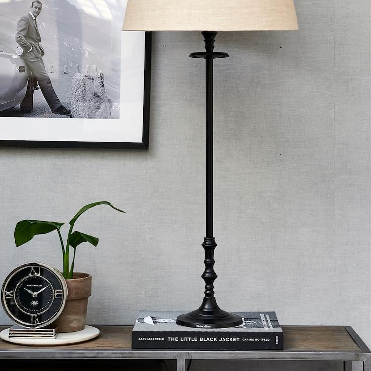 L`Hotel Lamp Base black L