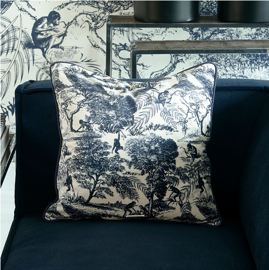 Toile Printed Pillow Cover 50x50