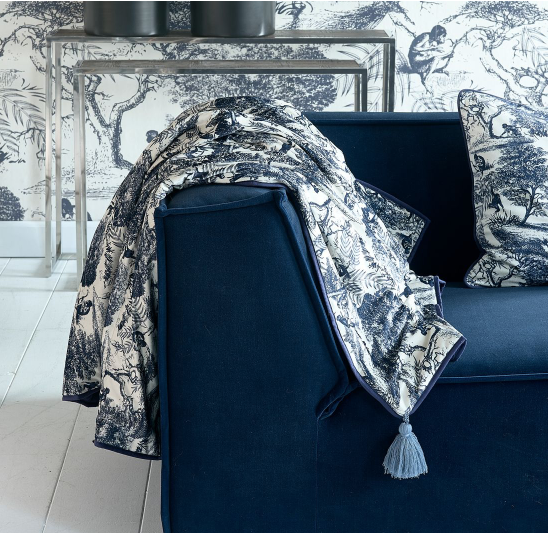 Toile Printed Throw 180x130