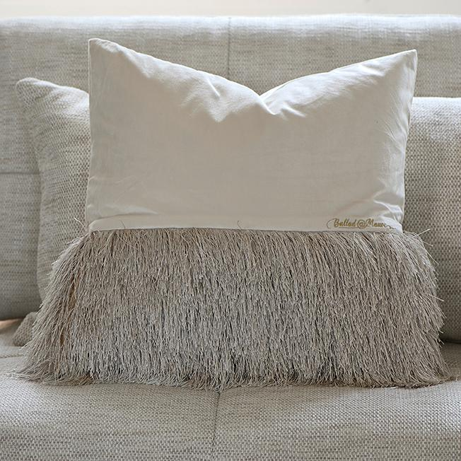 Ballad Fringe Pillow Cover 50x50