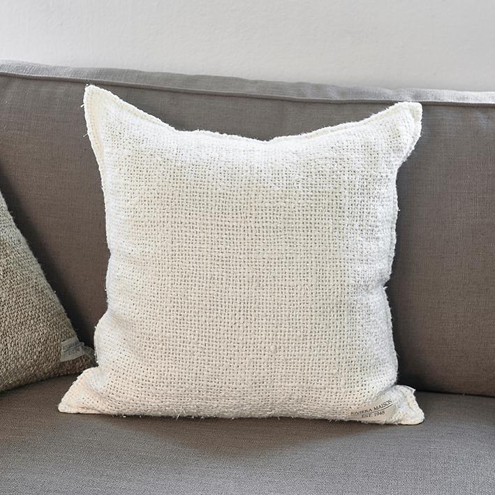 Rough Linen Pillow Cover off-white 50x50