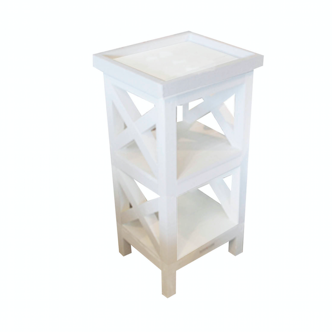 Side table Teddy white